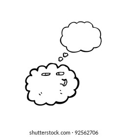 cloud with thought balloon
