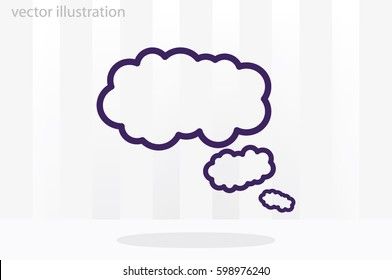 cloud thought icon vector illustration EPS 10