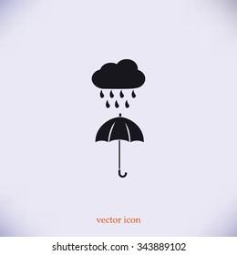 cloud and umbrella icon