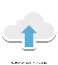 Cloud Upload, Uploading Vector Icon