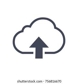 Cloud Upload Vector Icon