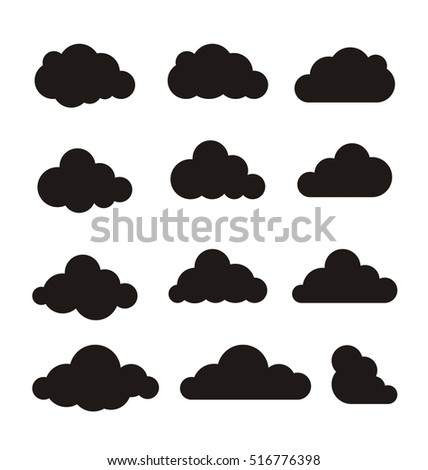 cloud vector clouds vector cloud icon のベクター画像素材