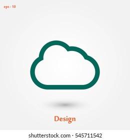 cloud vector icon, flat design best vector icon