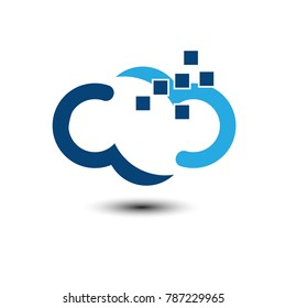 cloud vector logo