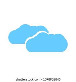 Cloud  weather  button  -  vector Cloud rainy symbol - forecast symbol