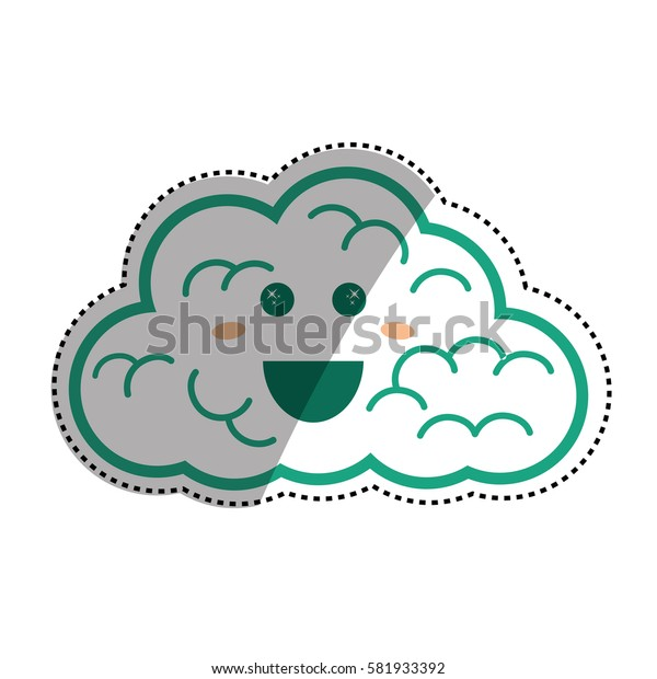 cloud weather symbol icon vector illustration graphic design
