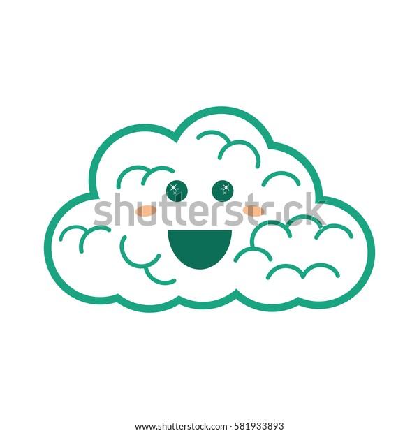cloud weather symbol icon vector illustration graphic design
