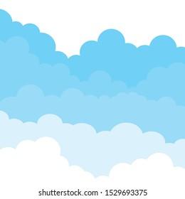 Clouds background.Blue.Template, design element.Banner.Vector design