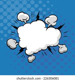 Clouds boom backgrounds, vector illustration