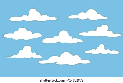 clouds collection. clouds background