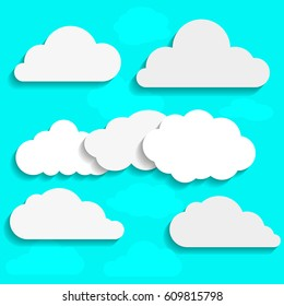 Clouds Collection Vector Illustration