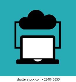 clouds computing graphic design , vector illustration
