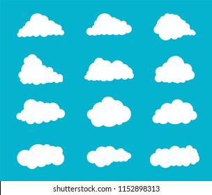 clouds drawing style , vector illustration