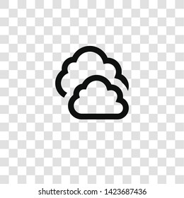 clouds icon from miscellaneous collection for mobile concept and web apps icon. Transparent outline, thin line clouds icon for website design and mobile, app development