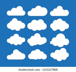 Clouds icon , vector illustration