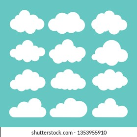 Clouds icon. Vector illustration.