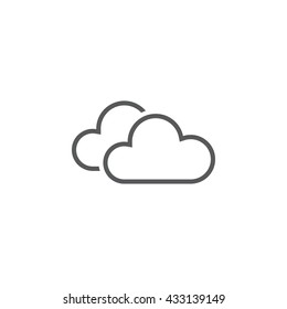 Clouds line icon, outline vector logo illustration, linear forecast pictogram isolated on white