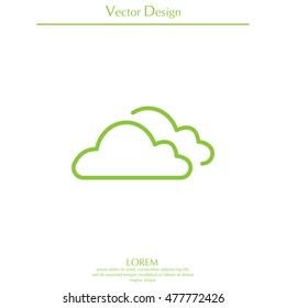 clouds line icon, vector illustration.