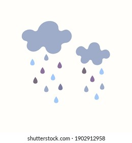 Clouds and rain. Clouds. Vector illustration.