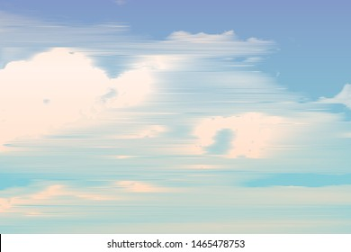 clouds, retro engraving style. design element. vector illustration