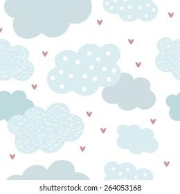 clouds, seamless pattern
