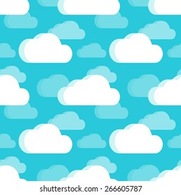 Clouds seamless pattern. The layout is fully editable