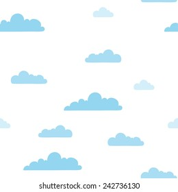 clouds seamless pattern. vector illustration