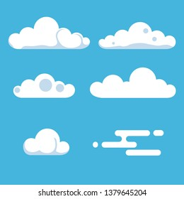 The clouds in the sky Set. Technologies. Element for design. Vector