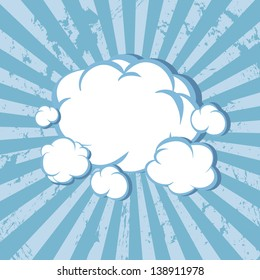 Clouds striped background. Vector illustration