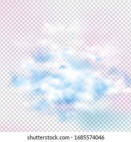 Clouds vector design on transparent background. Eps 10 vector illustration.