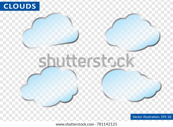 Clouds Vector On Transparent Background Vector Stock Vector (Royalty