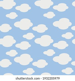 Clouds vector seamless repeat pattern print