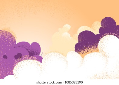 Cloudy background with spectacular colors and shadows