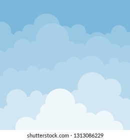 Cloudy with blue sky landscape vector background illustration.