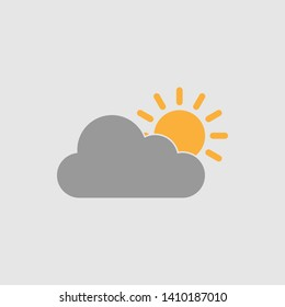cloudy day icon vectro illustration - vector