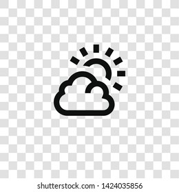 cloudy icon from miscellaneous collection for mobile concept and web apps icon. Transparent outline, thin line cloudy icon for website design and mobile, app development