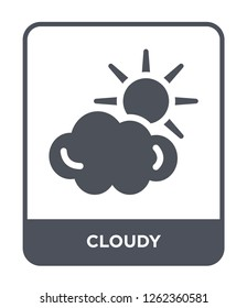 cloudy icon vector on white background, cloudy trendy filled icons from Travel collection, cloudy simple element illustration