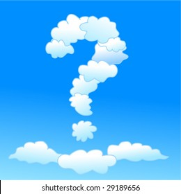 Cloudy question-mark