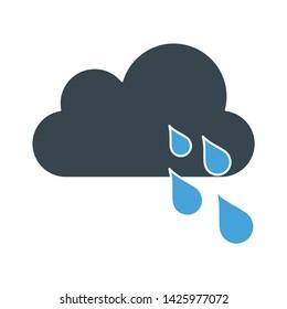 cloudy rain icon. flat illustration of cloudy rain vector icon for web