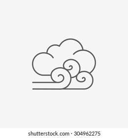 cloudy and the wind icon