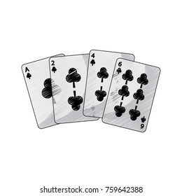 clover or clubs suit french playing cards icon image