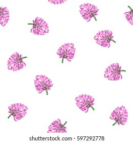 clover flowers. vector seamless pattern. spring background