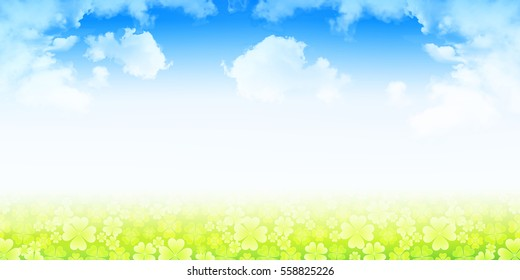 Clover grass green background
