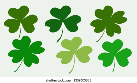 Clover green heart shaped leaves