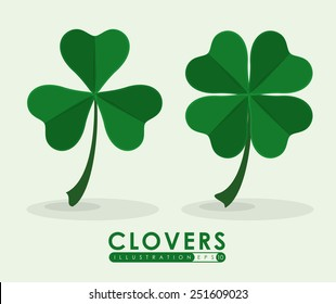 clover icon design, vector illustration eps10 graphic