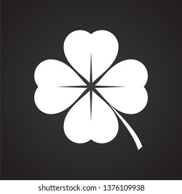 Clover icon on background for graphic and web design. Simple vector sign. Internet concept symbol for website button or mobile app