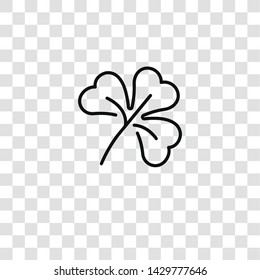 clover icon from spring season collection for mobile concept and web apps icon. Transparent outline, thin line clover icon for website design and mobile, app development