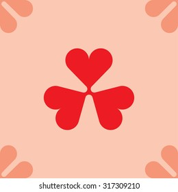 clover leaf background vector illustration