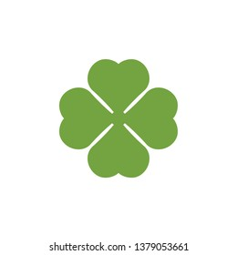 Clover leaf clip art graphic design template vector