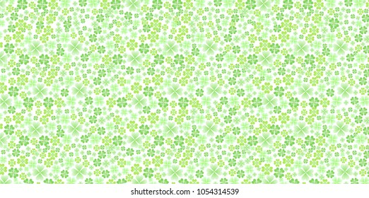 Clover leaf green background
